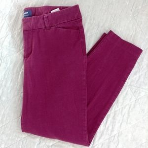 Raspberry Old Navy Pixie Twill Mid Rise Ankle